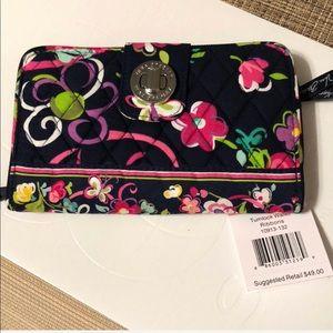 NWT Vera Bradley Ribbons Turnlock Wallet